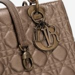 Dior Lady Medium Lamb Gold Gold, Metallic  | Sell your designer bag on Saclab.com