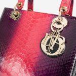 Dior Lady Medium Python Pink Pink  | Sell your designer bag on Saclab.com