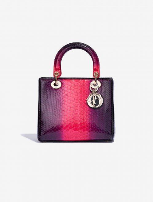 pre-loved Lady Dior Medium Python Pink SACLÀB