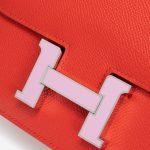 Hermès Constance 18 Epsom / Emaille Rouge de Coeur / Mauve Silvestre