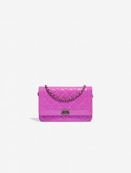 Chanel pre-loved Wallet on Chain lambskin pink SACLÀB