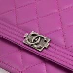Chanel Boy Wallet On Chain Lambskin Pink Hardware