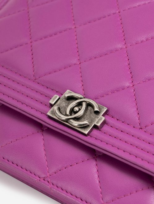 Chanel Boy Wallet On Chain Lambskin Pink Hardware