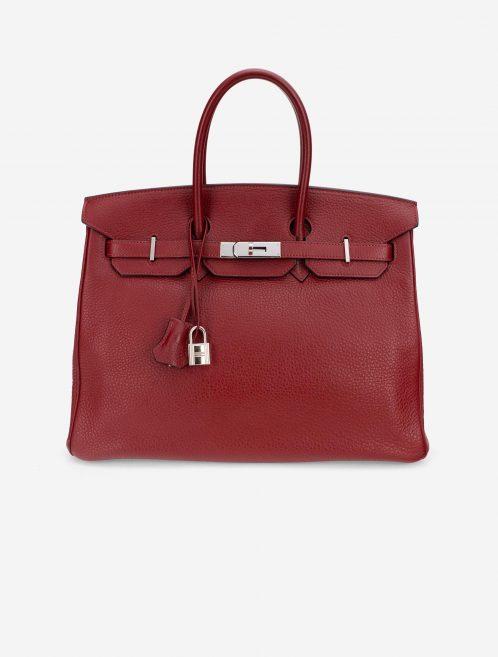 Hermès Birkin 35 Togo Rouge Grenat Red  | Sell your designer bag on Saclab.com