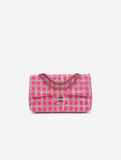 Chanel Timeless Medium Tweed Pink / White Pink, White  | Sell your designer bag on Saclab.com