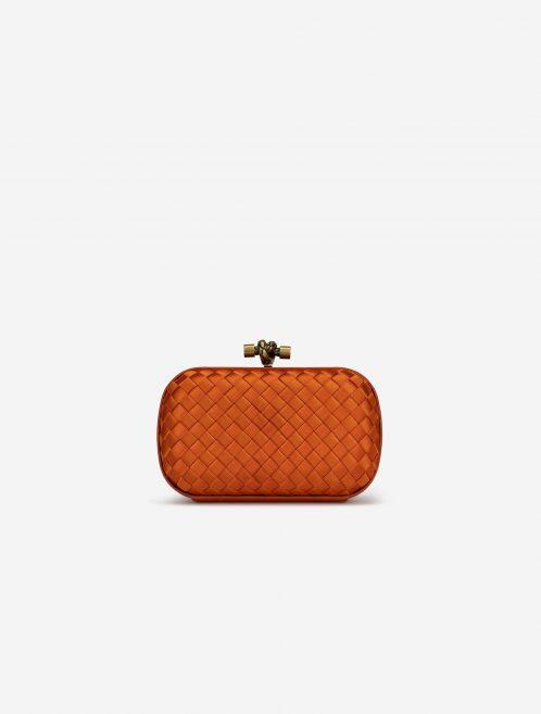 Bottega Veneta Knot Clutch Silk Orange