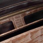 Gucci Bamboo Crocodile Brown Brown  | Sell your designer bag on Saclab.com