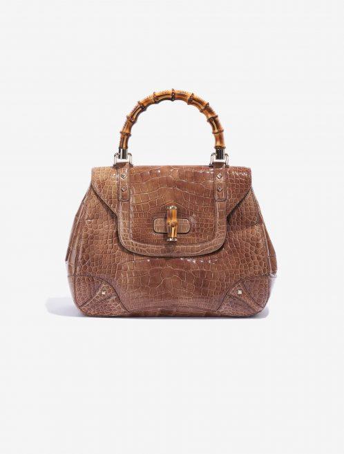 Gucci Bamboo Crocodile Bag Brown SACLÀB