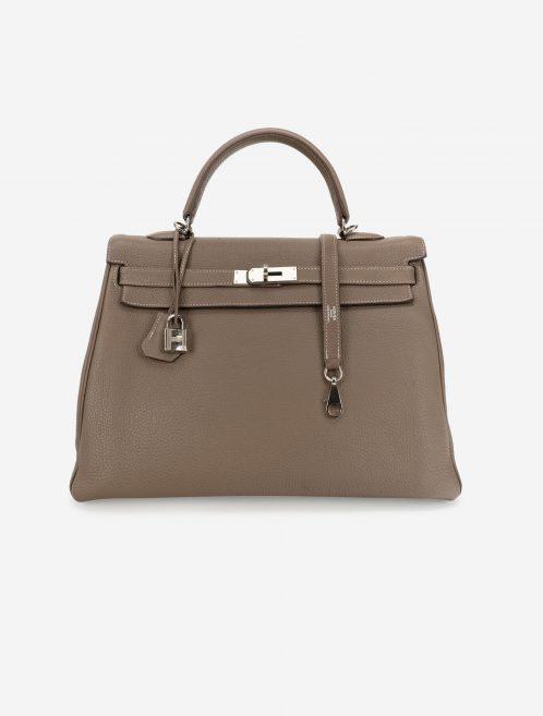 Hermès Kelly 35 Clemence Etoupe Front