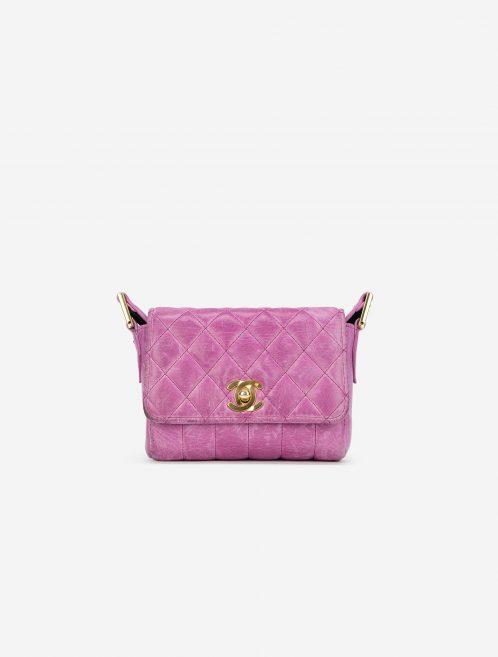 Vintage Chanel Timeless Micro Bag Calfskin Pink Front