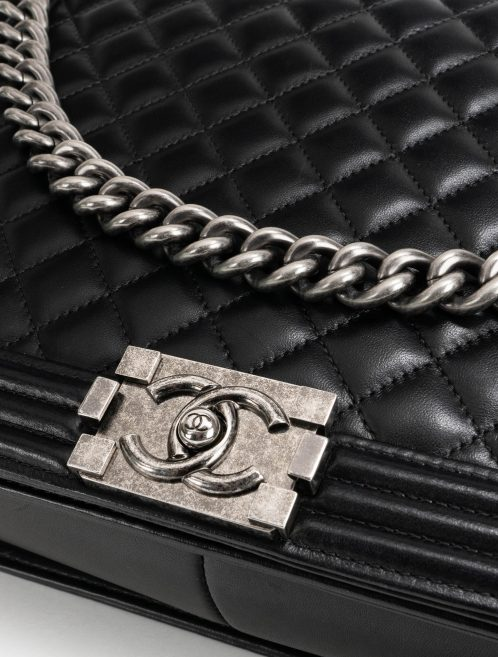 Chanel Boy Large Lamb Black Hardware
