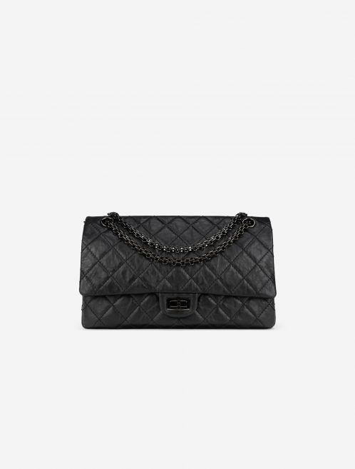 Chanel 2.55 226 So Black Aged Calfskin Front