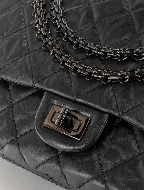 Chanel 2.55 226 So Black Aged Calfskin Hardware