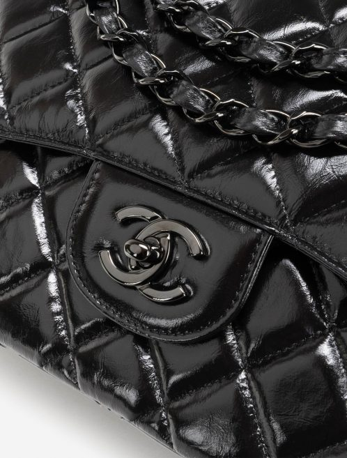 Chanel Timeless Jumbo Patent Leather So Black Hardware