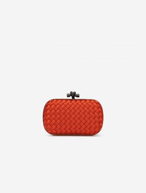 Bottega Veneta Knot Clutch Silk / Python Orange Front