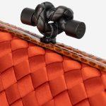 Bottega Veneta Knot Clutch Silk / Python Orange Clasp