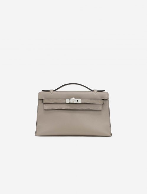 Hermès Kelly Pochette Swift Gris Asphalte Front