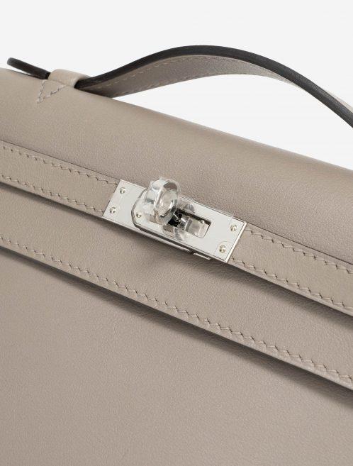 Hermès Kelly Pochette Swift Gris Asphalte PHW
