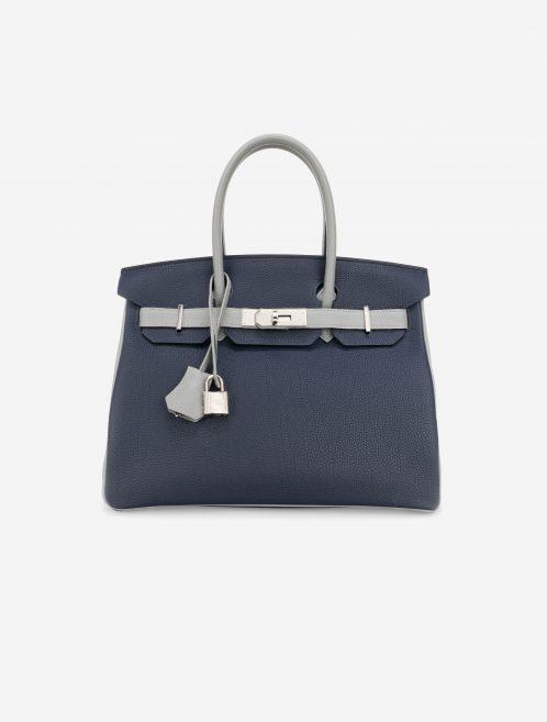 Hermès Birkin 30 Blue Encre Gris Mouette HSS Front