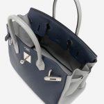 Hermès Birkin 30 Blue Encre Gris Mouette HSS Inside