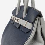Hermès Birkin 30 Blue Encre Gris Mouette HSS Side Perspective