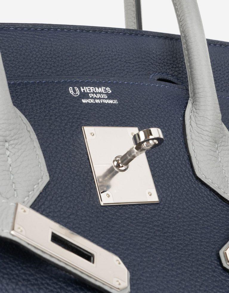 Hermès Birkin 30 Blue Encre Gris Mouette HSS Hardware