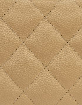 Chanel Beige Caviar leather