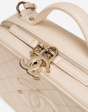 Chanel light beige Caviar leather