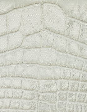 Chanel Grey white metallic alligator leather