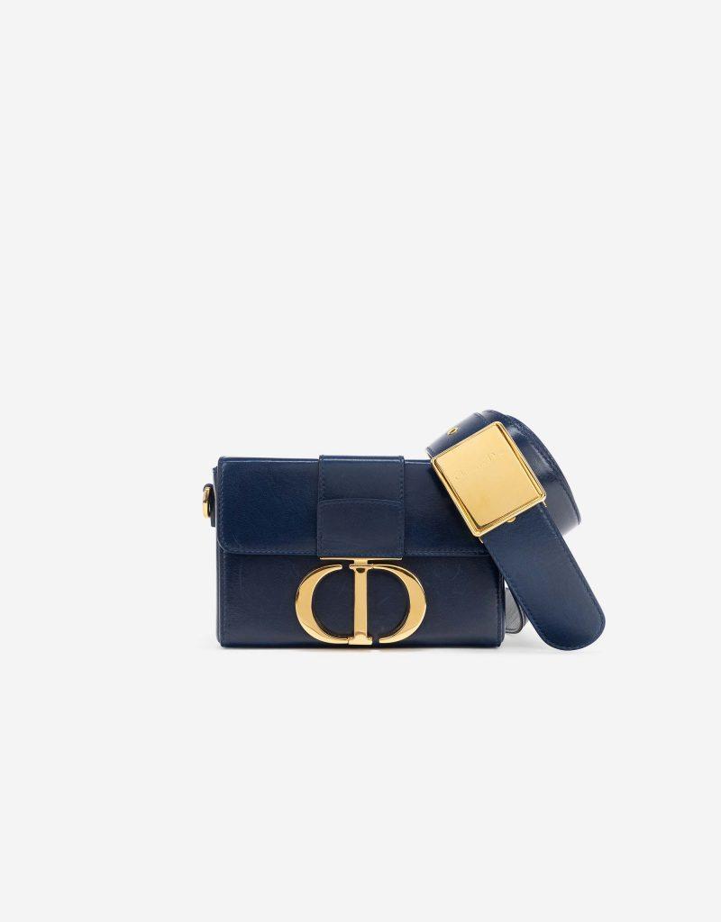 Dior 30 Montaigne Box Small Lamb Blue Indigo