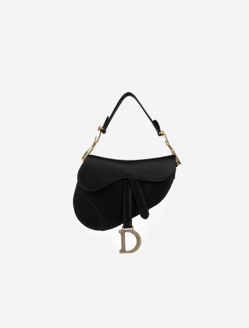 Dior Saddle Mini Satin / Swarovski Black