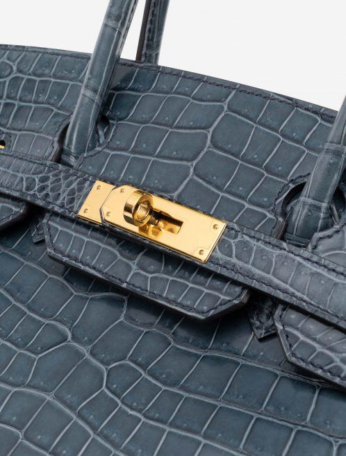 Hermès Birkin 30 Porosus Crocodile Blue Tempete