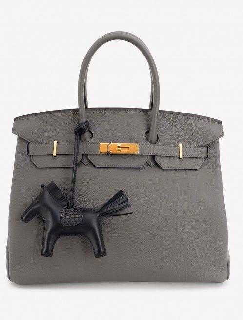 Hermès Rodeo PM Lamb / Alligator Matte SO Black Touch