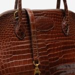 Hermès Bolide 31 Porosus Crocodile Brown Brown  | Sell your designer bag on Saclab.com