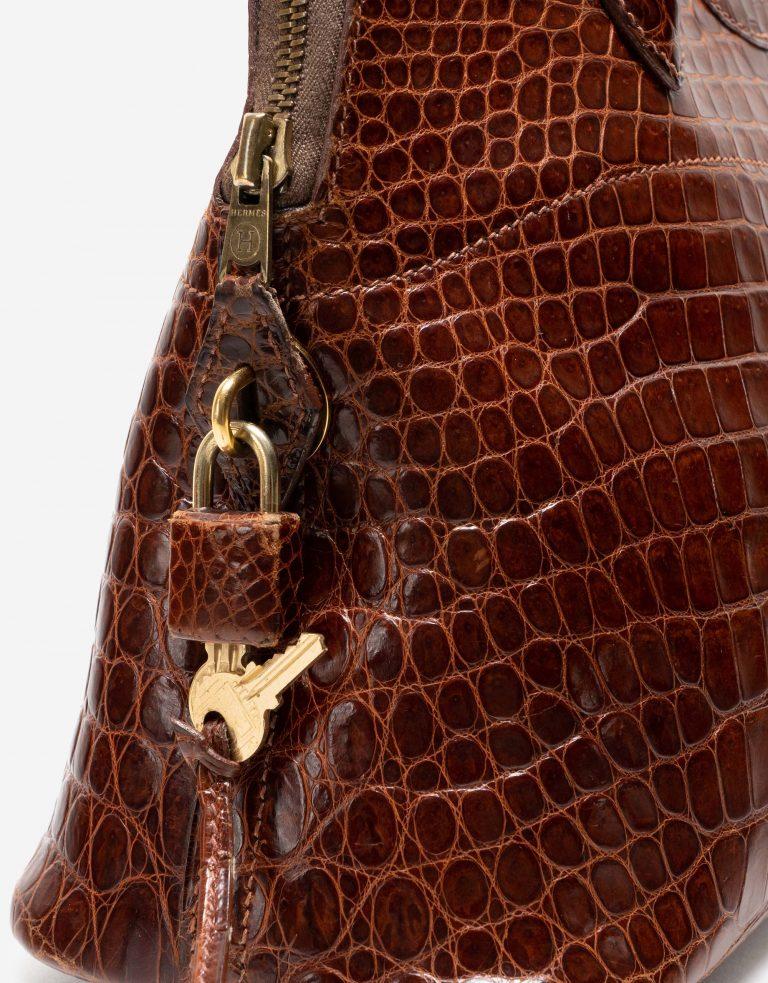 Hermès Bolide 31 Porosus Crocodile Brown