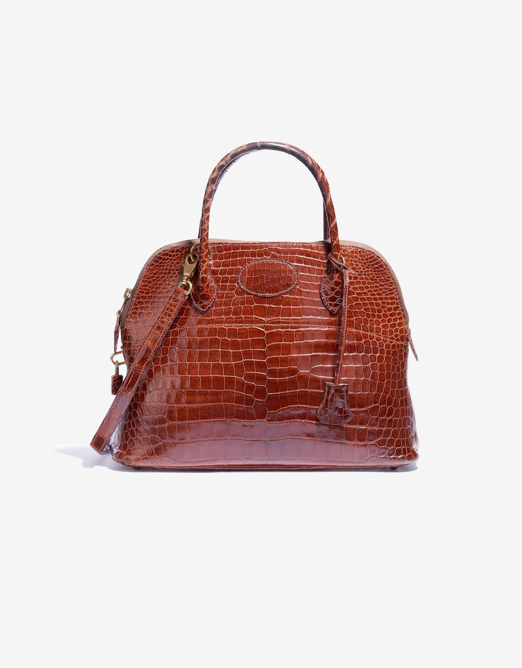 Hermès Bolide 31 Porosus Crocodile Brown | SACLÀB