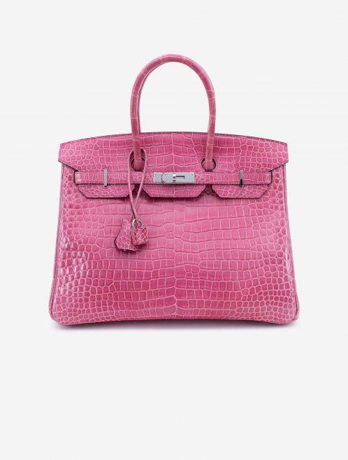 Hermès Birkin 35 Porosus Crocodile Lisse Rose Tyrien Front