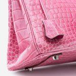 Hermès Birkin 35 Porosus Crocodile Lisse Rose Tyrien
