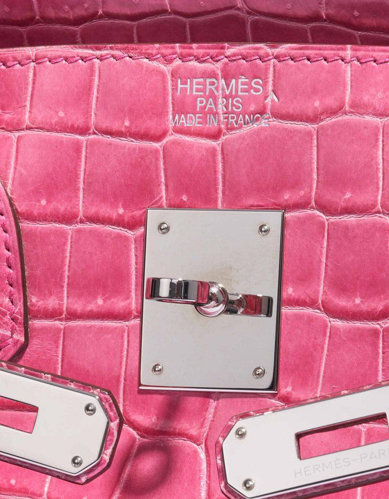 Hermès Birkin 35 Porosus Crocodile Lisse Rose Tyrien Palladium Hardware