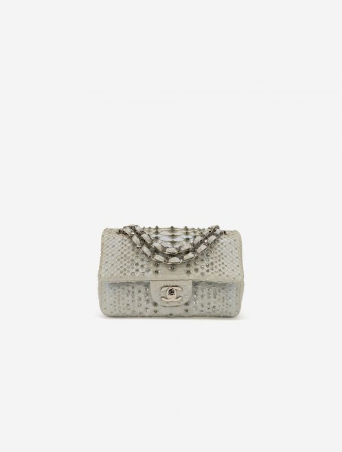 Chanel Timeless Small Python Silver