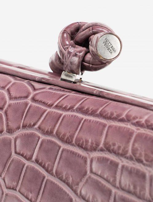 Bottega Veneta Stretch Knot Clutch Crocodile Violet
