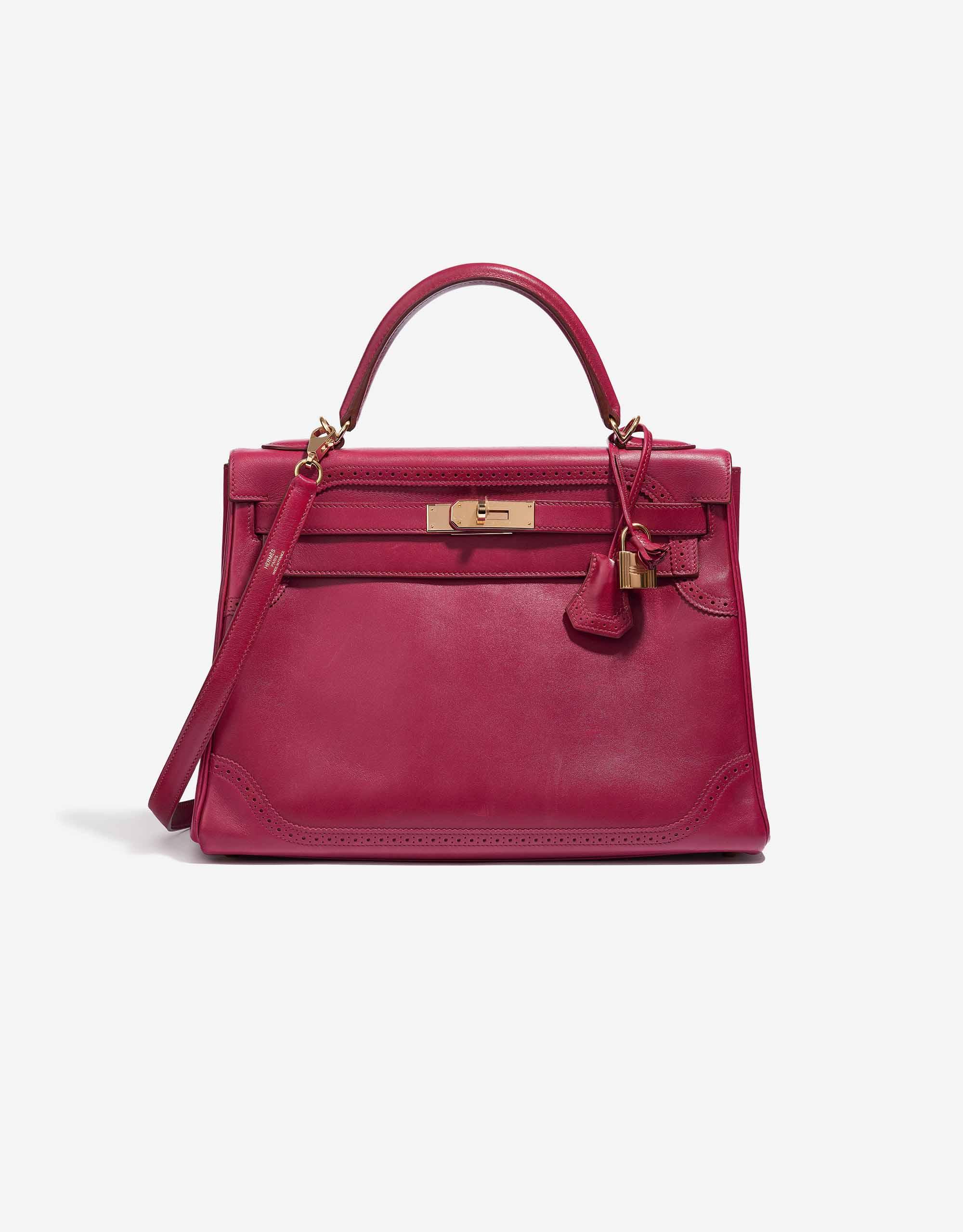 Hermès Kelly 32 Ghillies Tadelakt Rubis | SACLÀB