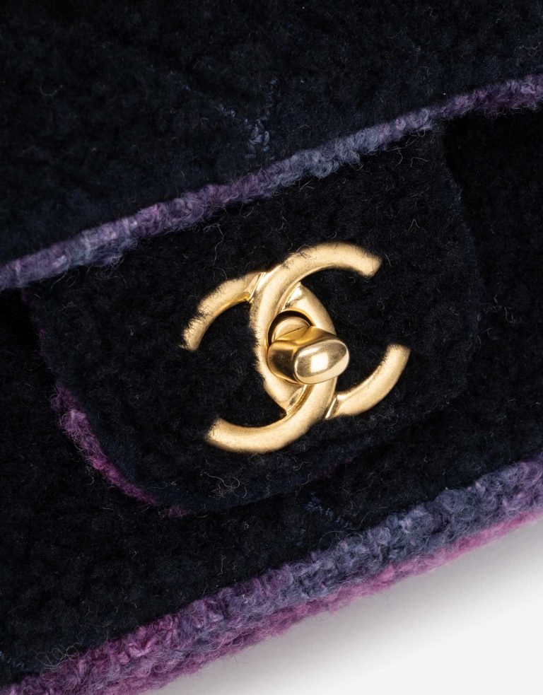 Chanel Timeless Small Shearling / Tweed Blue