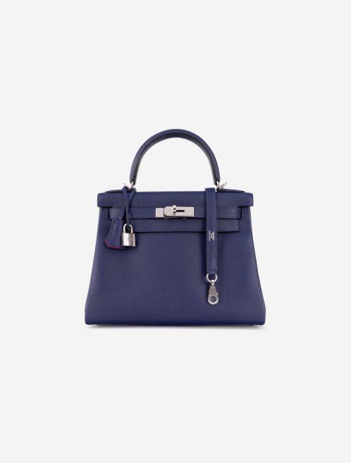 Hermès Kelly 28 Verso Evercolor Blue Encre / Magnolia