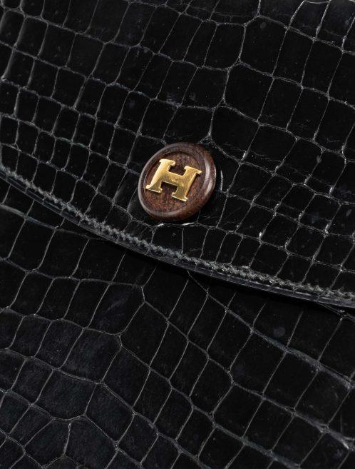 Hermès Rio Porosus Crocodile Black