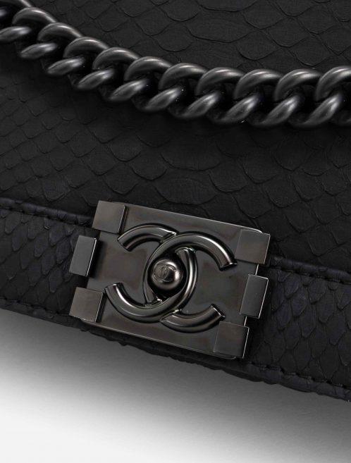 Chanel Boy Medium Python So Black