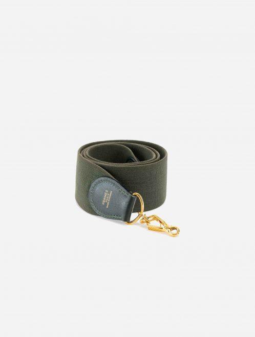 Hermès Shoulder Strap Canvas / Box Vert Anglais