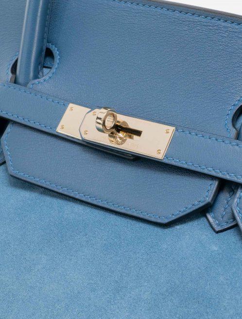 Hermès Birkin 40 Suede Grizzly Blue Thalassa