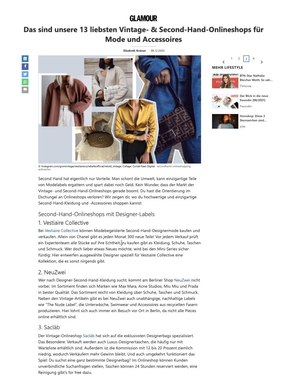 Saclab Featured on Glamour