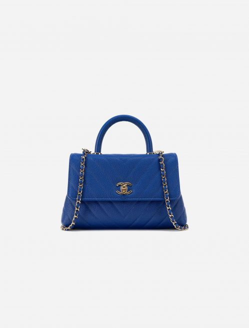Chanel Timeless Handle Small Caviar Blue